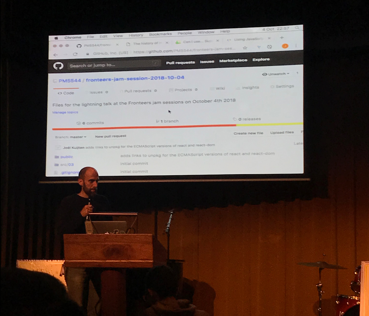 Joel Kuijten at the Fronteers Jam Sessions 2018